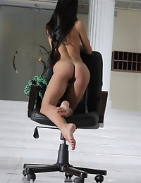 Fedorov-hd-Maria-chair-fabulous-hot-girl-long-dark-hair-russian-girl  photo #8
