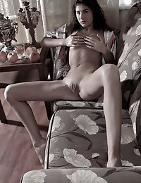 Fedorov-hd-Melissa-teahouse-black-long-hair-cutie-fingering  photo #2