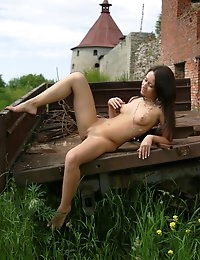 Fedorov-hd-Debi-fortress-outdoor-young-girl-shaved-wet-pussy  photo #3