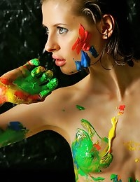 Fedorov-hd-Liala-paint-game-great-teen-body-artistic-nude  photo #6