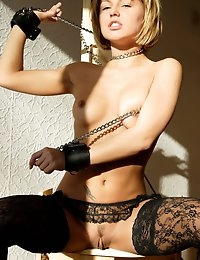 Fedorov-hd-Tia-action-black-stocking-bad-girl-cuffs  photo #3
