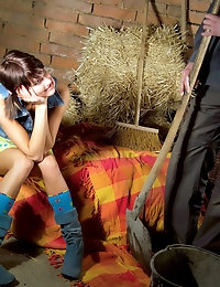 Teen Fucked In The Barn photo #1