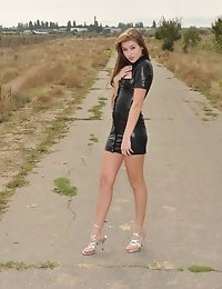 Eroberlin Viva russian teen airport naked outdoor photo #2