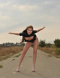 Eroberlin Viva russian teen airport naked outdoor photo #7