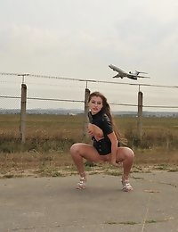 Eroberlin Viva russian teen airport naked outdoor photo #8