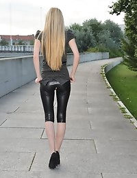 Eroberlin Diana Fox horny morning outdoor leggings photo #2