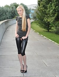 Eroberlin Diana Fox horny morning outdoor leggings photo #3