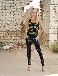 Eroberlin Helen F skinny russian shiny leggings teen photo #1