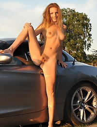 Eroberlin Kate Pearl hairy pussy BMW Convertible photo #1