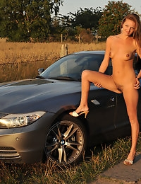 Eroberlin Kate Pearl hairy pussy BMW Convertible photo #2