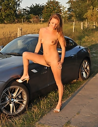 Eroberlin Kate Pearl hairy pussy BMW Convertible photo #3