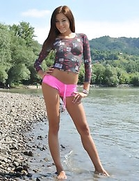 Eroberlin Anita Pearl hungarian teen at Duna River photo #1