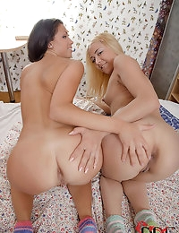 Hot Threesome With Young Coeds photo #8