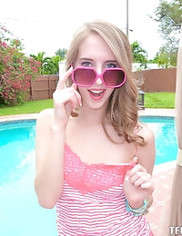 :: Teamskeet.com presents Cadence Lux's Sexy Pictures in Poolside Fuck :: photo #1
