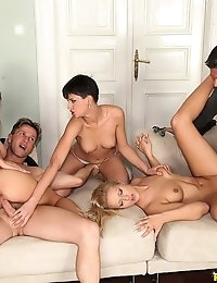 "EuroSexParties â""¢ - Alice Romain Three lips two sticks European petite babes juicy asses go anal photo #8"